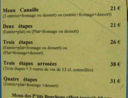Cour des Vignes : Découvrez nos menus